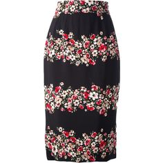 DOLCE & GABBANA floral print pencil skirt ($405) ❤ liked on Polyvore featuring skirts, pencil skirt, high rise pencil skirt, dolce gabbana skirt, flower print skirt, floral print skirt and flower print pencil skirt
