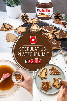 Entdecke jetzt das ganze Rezept und viele weitere leckere Backideen unter www.de Best Picture For fall baking recipes For Your Taste You are looking for something, and it is going to tell you Biscuit Nutella, Nutella Cookies, Chocolate Cookie Recipes, Easy Cookie Recipes, Chocolate Chip Cookies, Baking Recipes, Speculoos Cookies, Baking Ideas, Chocolate Cake