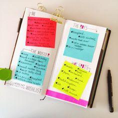 wishlists on sticky notes