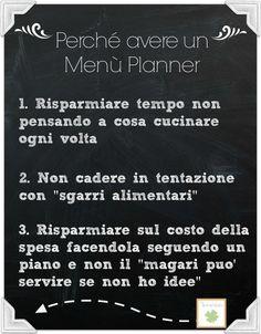 12 settimane per organizzare: il menù planner