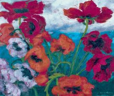 emile nolde | Emil Nolde: Large Poppies (Red, Red, Red), 1942 .