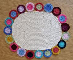 #crochet penny rug      ♪ ♪ ... #inspiration #crochet  #knit #diy GB  http://www.pinterest.com/gigibrazil/boards/