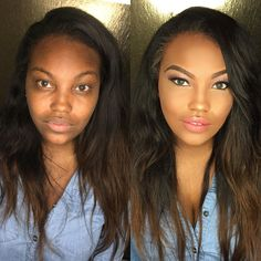 Natural glowy make up inspo for women of color - Makeup Tips Highlighting Beauty Make-up, Beauty Makeup Tips, Glam Makeup, Beauty Skin, Eye Makeup, Makeup Pro, Makeup Tricks, Make Up Looks, Simple Makeup