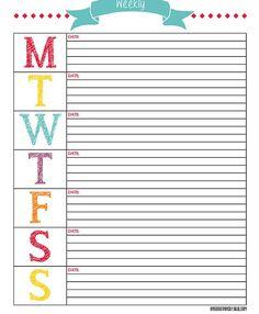 Craft Room Secrets: New planner/Journal/Filofax Planner Pages, Life Planner, Weekly Planner, Weekly Calendar, Arc Planner, College Planner, Planner Journal, Blank Calendar, Student Planner