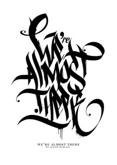 /// Black & white Calligraphy /// by Alexis Persani, via Behance