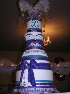 Masquerade Theme quince cake #Quinceanera