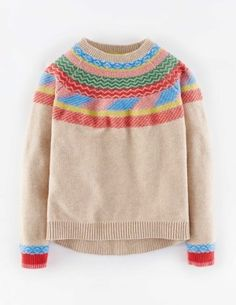 Ella Jumper Colourful Fairisle Boden