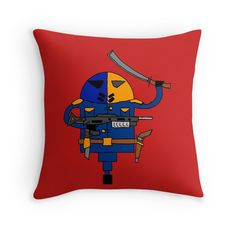 'Stroking Death' Throw Pillow by Pogoshots Death, Vibrant, Throw Pillows, Artist, Prints, Fictional Characters, Design, Toss Pillows, Cushions