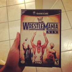On instagram by mikefashe #retrogaming #microhobbit (o) http://ift.tt/1Z3z7w8 just came in right now :) time to relive and make stupid wrestlers lol #nintendo #nintendogamecube #gamecube  #wrestlemaniaxix