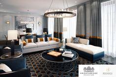 Moscow | Luxury Interior Design | Reception Room | Chandelier #Interior #Design #Home #Decor #Sitting #Modern