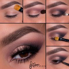 "#ShareIG Loved the previous look? Here's the pictorial to recreate it using ALL Motives! @elymarino 1.Begin by applying ""Ivory"" onto the brow bone 2.Using ""Plum"" apply slightly above the crease 3.Taking ""Smoke"" apply to the outer ""V"" of the eyes and slightly in the crease 4.Taking ""Venus"" pat on the lid with ""Allure"" paint pot over top 5.Take ""Smoke"" and ""Plum and apply to the lower lash line Lips/Silhouette lipstick ______________________________________ All #motives products are ..."