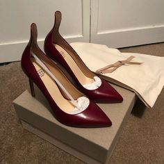Francesco Russo Wine Colored Pumps/High Women Heels, New, Size 6 Size Court Shoes, Pump Shoes, Shoes Heels, Pumps, Designer Heels, High Heels, Zara, Wine, Things To Sell