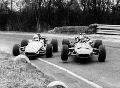 Jean-Luc Salomon & Denis Dayan clash at Nogaro, 1970. Three months later they both died in the same race at Rouen…