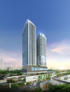 4 Bedroom Apartments, Cool Apartments, Mix Use Building, Multi Story Building, Serviced Apartments, New City, Urban Design, Facade, Skyscraper