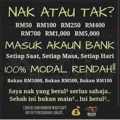 Hari-hari gaji..hari-hari akaun bank korang berdesupp je income masyyuukk..Best tak??? Setiap hari anda layak terima gaji rm50rm100rm250rm500&rm5000 terus masuk ke akaun bank anda !!! Syarat utama :anda perlu ada akaun bank malaysia dan apps sosial.. Info lanjutDirect whatsapp saya sekarang !!! 011-36009006  #online #onlineshopmalaysia #buat #buatduit #buatduitmudahfiza #buatduitdenganhandphone #buatduitdarirumah #parttime #parttimejob #parttimejobmalaysia #melaka #johorbahru #kedah…