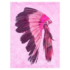 Bring a sense of contemporary elegance to your living room or master suite with this  cotton canvas wall art, showcasing a native American headdress print in...