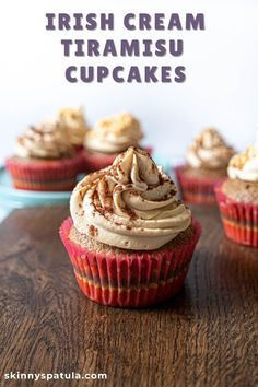 Mixing the flavours of traditional tiramisu with just of touch of Irish deliciousness, these Irish cream tiramisu cupcakes are unforgettable. #tiramisu #dessert #cupcakes #baileys #irish cream Delicious Cake Recipes, Cupcake Recipes, Yummy Cakes, Dessert Recipes, Tiramisu Cupcakes, Tiramisu Recipe, Tiramisu Dessert, Cupcake Mix, Cupcake Cakes