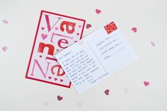 Turn old greeting cards into post cards.