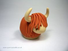 Wee Highland Cow Ornament Sculpture. £20.00, via Etsy.