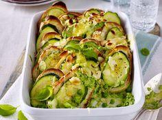 Zucchini-Auflauf mit Basilikum