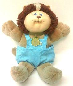 Vtg Cabbage Patch Kids Koosas Lion Cat Pet Stripe Blue Eyes 80s Toy Kerry Name #Coleco