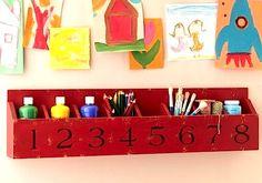 kids art supplies storage