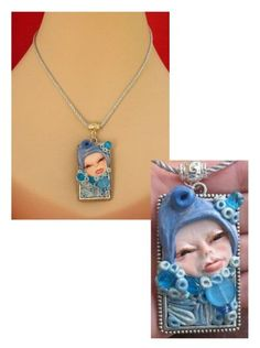 Ice Blue Pixie Pendant Necklace Jewelry Handmade by britpoprose99, $14.99