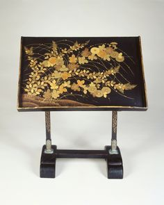 Reading Stand, early 17th century Japan, Momoyama Period (1573-1615) lacquer with gold.