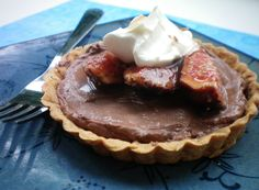 Chocolate Tarts with Honey Balsamic Figs