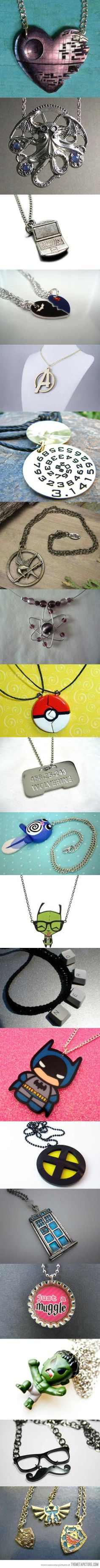A collection of 20 cool and creative necklaces for geeks…
