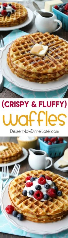 This waffles recipe is our absolute favorite! Creating fluffy waffles that are incredibly light, crispy, and super easy to make! You'll be happy to wake up and have these waffles for breakfast or brunch.