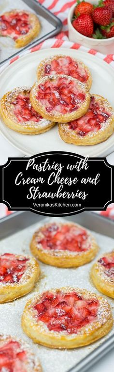 Pastries with Cream Cheese and Strawberries are a quick and easy breakfast idea for your weekend. Only 4 ingredients, puff pastry, cream cheese, strawberries, and strawberry jam, will make your breakfast special. (#breakfastideas, #breakfastrecipes, #breakfastrecipeideas, #pastryrecipes, #pastrydessert, #pastryrecipes, #pastrywithcreamcheese, #dessertswithcreamcheese, #easydesserts, #brunchideas, #brunchrecipes, #recipeswithpuffpastry, #easybreakfastideas)