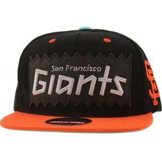 cbd4054862c BAIT x MLB x American Needle San Francisco Giants Retro Snapback Cap (black    orange)