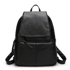 $20.75 (Buy here: https://alitems.com/g/1e8d114494ebda23ff8b16525dc3e8/?i=5&ulp=https%3A%2F%2Fwww.aliexpress.com%2Fitem%2F2016-vintage-designer-leather-black-backpack-women-hasp-zipper-teens-girl-rucksacks-school-notebook-bag-travel%2F32737810154.html ) 2016 vintage designer leather black backpack women hasp zipper teens girl rucksacks school notebook bag travel mochila for just $20.75
