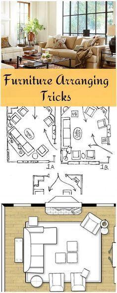 Furniture Arranging Tricks! • Great tips and ideas on arranging furniture! (scheduled via http://www.tailwindapp.com?utm_source=pinterest&utm_medium=twpin&utm_content=post579851&utm_campaign=scheduler_attribution)