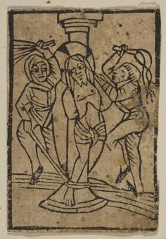 The Flagellation (Schr. 308c)  Published 15th century