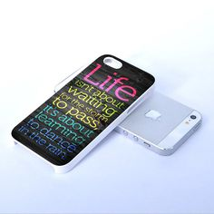 Life Quote Dance In The Rain - Print on Hard Cover iPhone Case - iPhone 5 Case - iPhone 4 Case - iPhone 4s Case