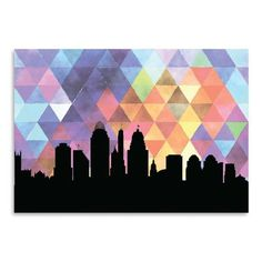 Americanflat PaperFinch Designs Cincinnati Triangle by Amy Braswell Graphic Art Size: