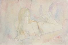 Vlad Iliaguev / ולד איליאגוייב , Nude 1 . 20-29cm. watercolor -2001 watercolor אקוורל על נייר on ArtStack #vlad-iliaguev-vld-ylygvyyb #art