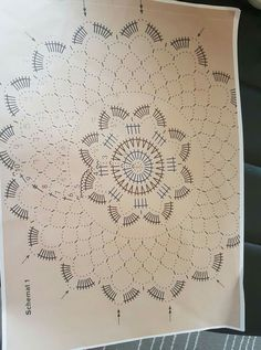 Best 11 Tina's handicraft : & patterns Dreamcatcher & mandala Crochet Mandala Pattern, Crochet Chart, Crochet Squares, Filet Crochet, Crochet Doilies, Crochet Stitches, Crochet Ornaments, Crochet Snowflakes, Crochet Motif