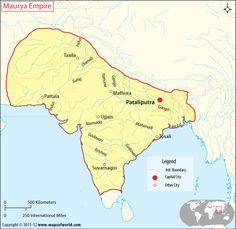 Mauryan Empire Map and Info.