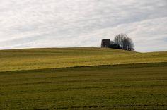 Ruiny murowanego wiatraka typu holenderskiego XVIII / XIX w. Stare Bogaczowice.