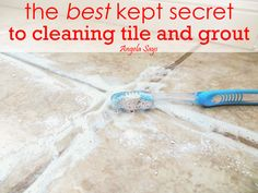 The Best Kept Secret to Cleaning Tile and Grout - I didn't know this little cleaner was my best kept secret to cleaning tile and grout until I tried it. Stains…