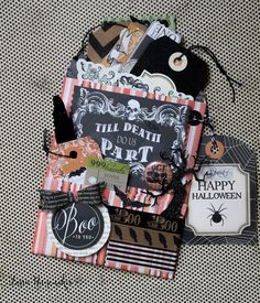 Lorrie's Story: Halloween Loaded Bag / Flip Bag with Tutorial
