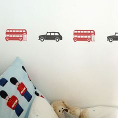 Nutmeg Wall Art London: Taxis & Buses Wall Stickers: Homewares: Children's Wall Stickers: Interiors
