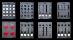 Eurack format Midi controller modules from Livid.