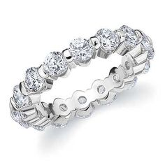 A beautiful platinum bar set eternity ring from Eternity Wedding Bands
