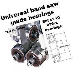 Universal Band Saw Guide Bearings Set of 10 Diameter Bandsaw Projects, Metal Projects, Woodworking Projects Diy, Homemade Tools, Diy Tools, Homemade Bandsaw Mill, Portable Chainsaw Mill, Tool Band, Metal Working Tools