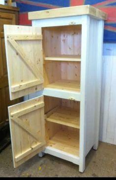 Tall Pine Freestanding Kitchen Utility Room Linen Cupboard Pantry Larder Unit | eBay