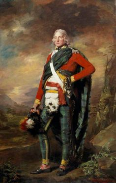 Sir John Sinclair (1754–1835), 1st Baronet of Ulbster, c.1794–1799,  by Henry Raeburn, National Galleries of Scotland. Love the trews!!! the whole ensemble actually is pretty spiffy!